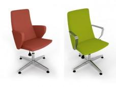 b-1 Konferenz, Drehstuhl, Besucher, Sessel mit Stoff oder Leder, Fußkreuz mit Gleiter