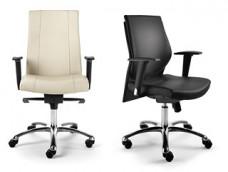 d-4 chef - Bürostuhl, Bürodrehstuhl mit Holzrücken oder komplett in Leder