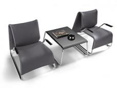 t-6/l-6 Designer Wartesessel und Lounge-Sessel, Kaffeetisch
