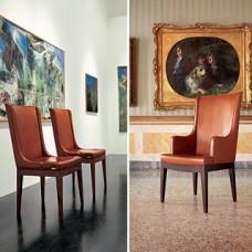 Aida  Besucherstuhl, Leder-Stuhl
