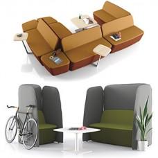 L1 Akustiksofa, Lounge Sessel mit Schallschutz, bequemes Sitzmöbel für Wartebereich,  Hotel