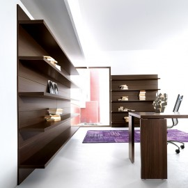 24 Design Büro Wandregal, hohes Aktenregal offen, Wandboard - Lithos