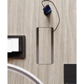 IULIO - 24 Kabeldurchführung Konferenztisch mit Kabelmanagement für Holztischplatten
