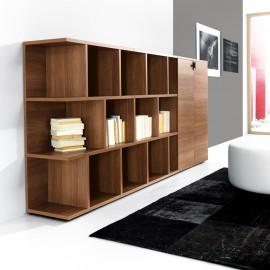29 Designregal oder modernes Highboard für Ihr Chefbuero, Ordnerschrank individuell, Walnuss - Lithos
