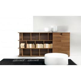 30 Regal Schrankkombination, Chefzimmer Highboard, moderner Ordnerschrank in Nussbaum Dekor - Lithos