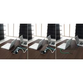 37 Multimedia Steckdosenleiste, Tischabdeckung Meetingtisch, Konferenztisch,  Lithos
