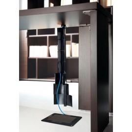 39 Design Kabelaufführung, Kabelmanagement Tischlfuss, Schreibtisch, Konferenztisch - Lithos