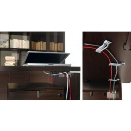 40 einfache Kabelaufführung unter der Tischplatte, Schreibtisch, Konferenztisch - Lithos