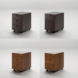 41 Schreibtisch Bürorollcontainer 3-Schub, Hängeregister Auszug - Lithos