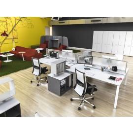 5th-ElLEMENT 01 Büroschreibtisch, Teambüro, Großraum Arbeitsplatz