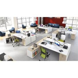 5th-Element 08 Großraum Büro, open Space, Büro Schreibtische zweifarbig
