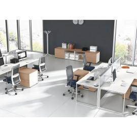 5th-Element 21 Mitarbeiterbüro, Team-Arbeitsplatz, offenes Büro, Schallschutz, Sichtschutz