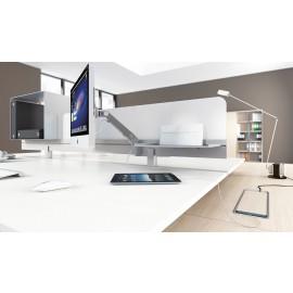 5th-Element 30 Details Schreibtisch Management mit Monitorhalterungen, Tisch-Sichtschutz und Sound-Paneel