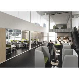 5th-Element 40 modern, stylisch Design Großraum Büro, open Office mit Akustik Möbeln
