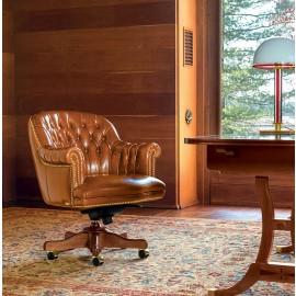 Admiral 03 exklusiver Büro-Sessel, Konferenzstuhl mit niedriger Rücklehne
