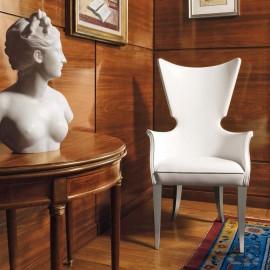 Artú  02 Design Besucherstuhl für Hotelzimmer oder als Loungestuhl, exklusiv handgefertigt mit bequemen Armlehnen
