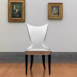Artú  04 eleganter Besucherstuhl für Wartebereich und Galerien