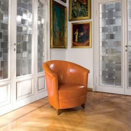 Atlantica  02 hochwertiger Leder Loungsessel, Besucherstuhl