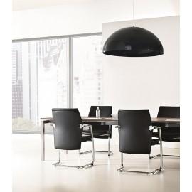 b-4 08 Konferenz-Freischwinger, Besucherstuhl in Leder und Chrom, bequeme und preiswerte Sitzmöbel für Ihr Meetingzimmer