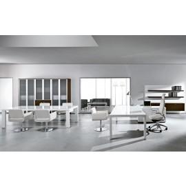 Cubiko 03 Chefbuero, Möbel hochwertig weiss lackiert