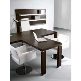 Cubiko 04 Chef-Schreibtisch mit Meetingtisch Ambau, Wenge