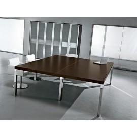 Cubiko 10 Chef Meetingtisch, Wenge, Chrom, Meetingraum