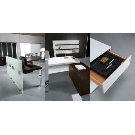 Cubiko 12 Glassichtschutz  Schreibtisch, Chef Büro, Schreibtisch Container