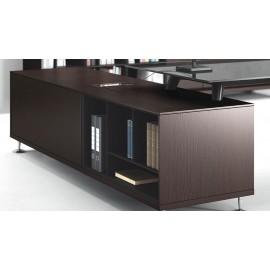 Enosi Evo 11 Büro Schreibtisch mit Servicecontainer in Wenge