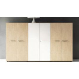 Enosi Evo 09 modularer Büro Ordnerschrank in Ahorn-weiß