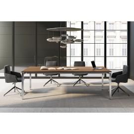 E.O.S. 01 - exklusiver Design-Konferenztisch, Meetingtisch für Besprechungsraum, in Ulme Dekor