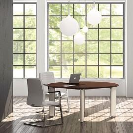 FILL EVO 03 modern rund Meetingtisch für Chefbüro zweifarbig erhältlich
