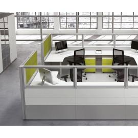 Format 27 Raumteiler Schreibtisch, Callcenter, Trennwand mit Akustiik-Schutz