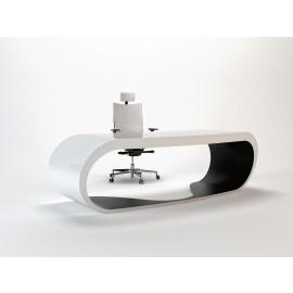 Goggle 06 Chef Schreibtisch weiss und schwarz lackiert