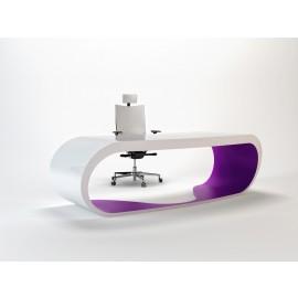 Goggle 08 Schreibtisch white, violet zweifarbig lackiert