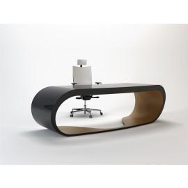 Goggle 15 Chef Schreibtisch hochglanz schwarz fango-grau