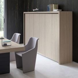 JERA 30 Chefzimmer, Ordnerschrank mit 4 OH, Schrankrahmung modular, Highboard, Esche grau