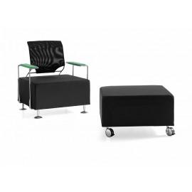 l-7 01 Design-Sessel, Wartebereich-Loungesessel mit Armlehnen und Netzrücken in 7 verschieden Farben möglich