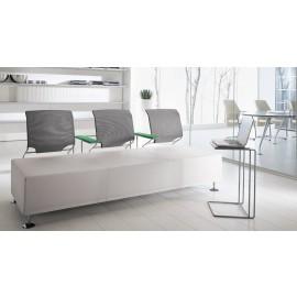 l-7 04 Designer Sofa, Dreisitzer für Wartebereich, Loungesofa mit Netzrücken, Wartebestuhlung