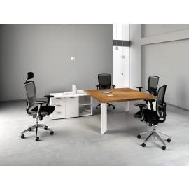 Manatta 03 Chefschreibtisch, Meetingtisch all-in-one