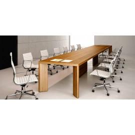Manatta 07 massiver Konferenztisch, geradliniges Design, Konferenz Tisch exklusiv, einzigartig