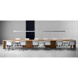 Manatta 08 exklusiver Konferenztisch, geradliniges modernes Design, Meeting Tisch, modular und groß