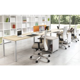 OXI 07 Schreibtischkombination Reihe , Teamlösung, U-Gestell, Schreibtisch für Schulungsraum