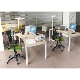 OXI 08 Schreibtisch mit ergonomischer Tischplatte, U-Gestell, Schreibtisch, Schulungsraum