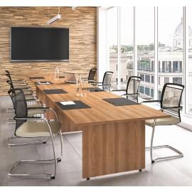 OXI 03 Meeting, Konferenz-Tisch, Walnuß, preiswert, schnell Lieferbar, Pausenraum