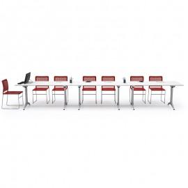 OYO 02 Klapp-Tisch, verkettbar für Schulungsraum, Konferenztisch klappbar, Seminartische, transportierbar