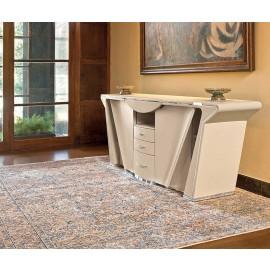 PRIOR 05 hochwertiges Design Büro-Sideboard, Cupboard, komplett in Leder bezogen, individeull auf Kundenwunsch anpassbar