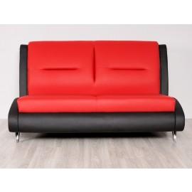s-10  04 Design Möbel, Lounge Sofa als 2 Sitzer, gefertigt im modernen Stil, zweifarbiges Leder oder Stoff möglich, einzigartiger Blickfang für den Empfangsbereich, Office Lounge