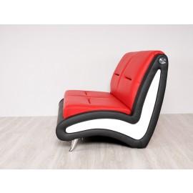 s-10  06  Lounge Polstersofa,  2-Sitzer, modernes Design, zweifarbiges Leder