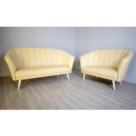 s-8  08 Lounge Sofa Sitzgruppe in Beige Leder