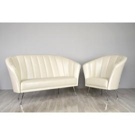 s-8  10 Design Sofa, ideal für den Lounge Bereich, Sitzmöbel mit Chrom Fuß